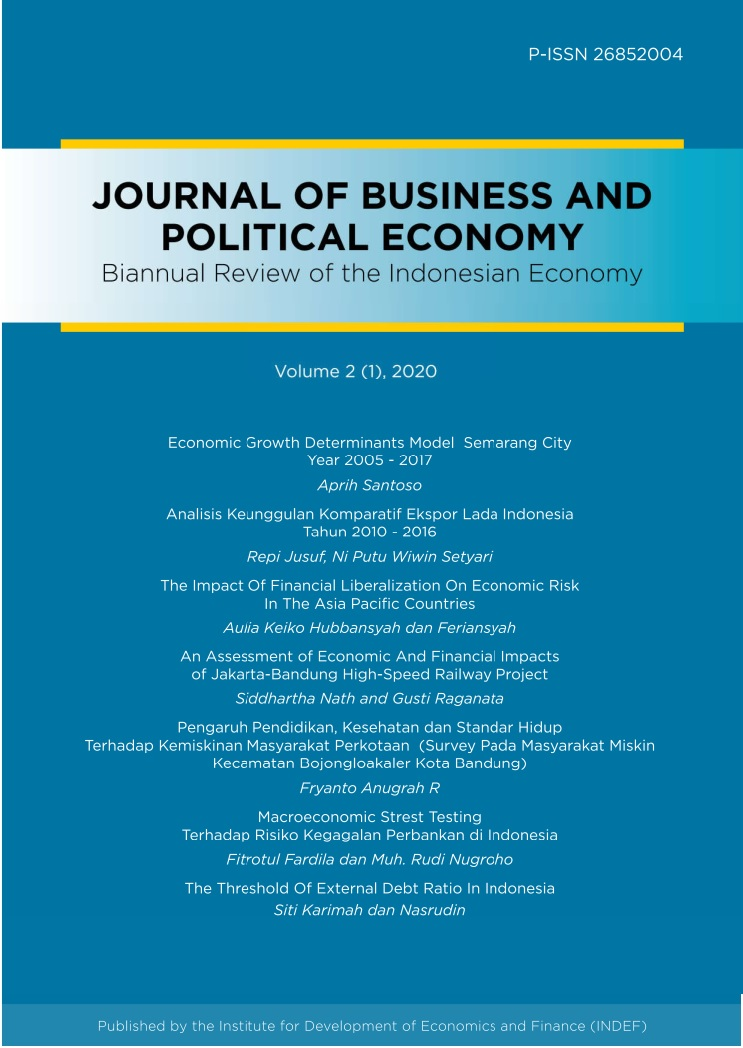 View Vol. 2 No. 1 (2020): Journal of Business and Political Economy: Biannual Review of The Indonesian Economy Review